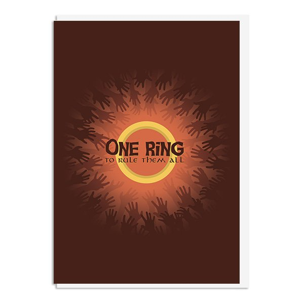 Lord of the Rings - One Ring to Rule them All Quote Minimal Greetings Card
