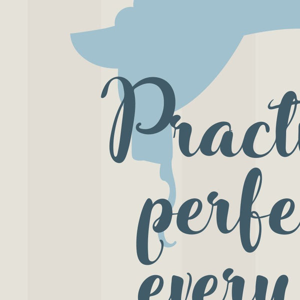 Mary Poppins - Practically Perfect in Every Way Quote Minimal Style Greetings Card