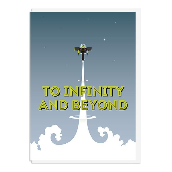 Toy Story - To Infinity and Beyond Quote Minimal Greetings Card