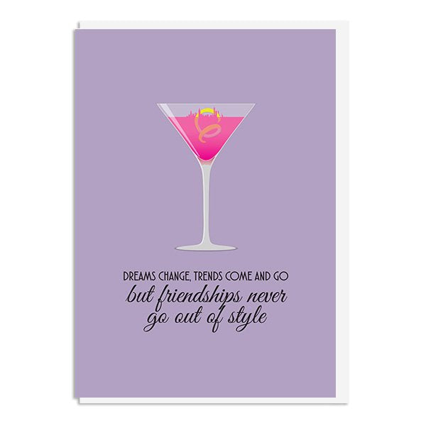 Sex and the City - Friendships never go out of style Quote Minimal Style Greetings Card