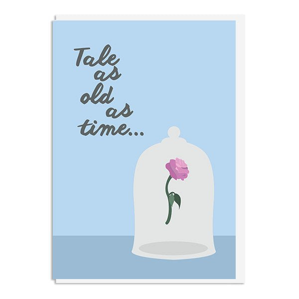 Beauty and the Beast - Tale as old as Time Quote Minimal Style Greetings Card