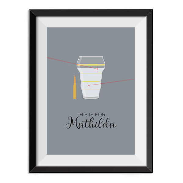 Leon - This is for Mathilda Quote Minimal Style Poster Print
