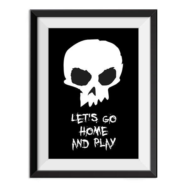 Toy Story - Lets Go Home and Play Quote Minimal Style Poster Print