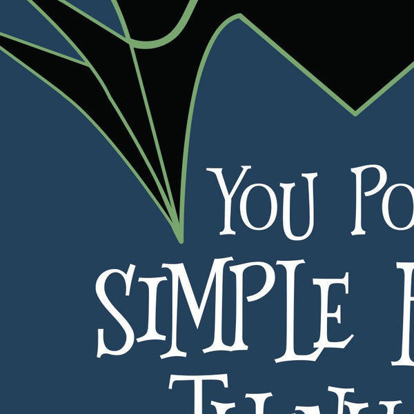 Sleeping Beauty - Maleficent Poor simple fools, thinking you can defeat me Quote Minimal Style Greetings Card