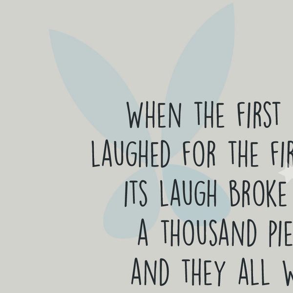 Peter Pan - When the First Baby laughed, Beginning of Fairies Quote Minimal Greetings Card