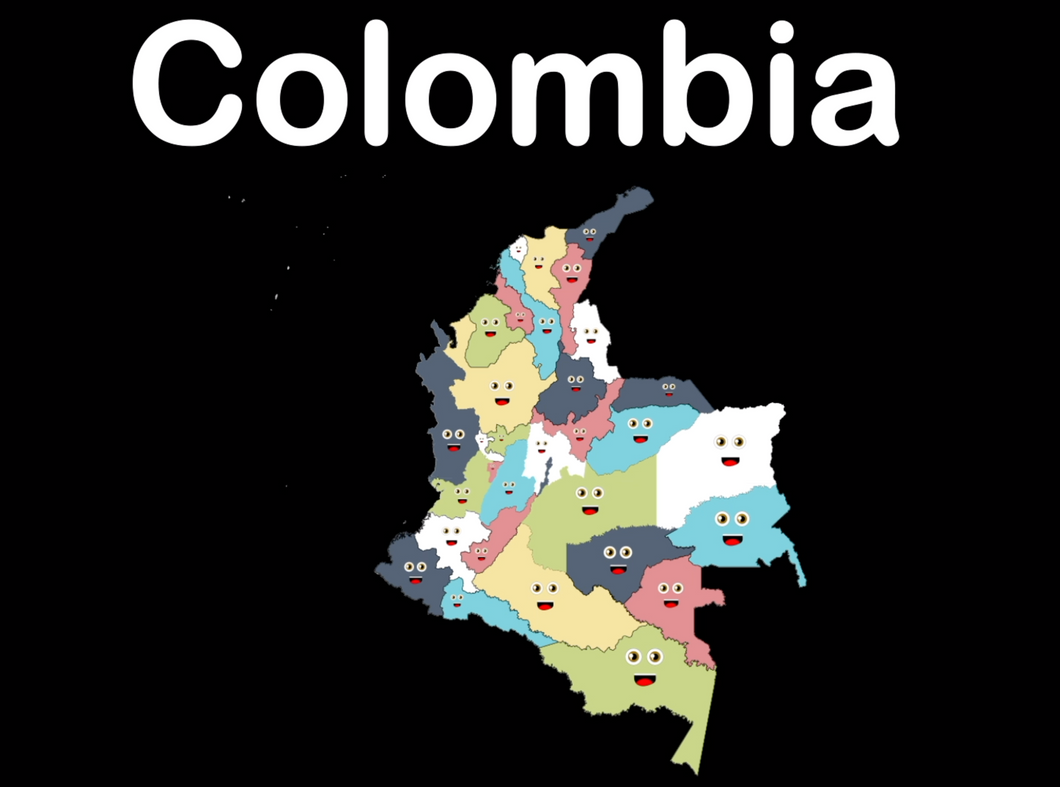Colombia Coloring Sheet