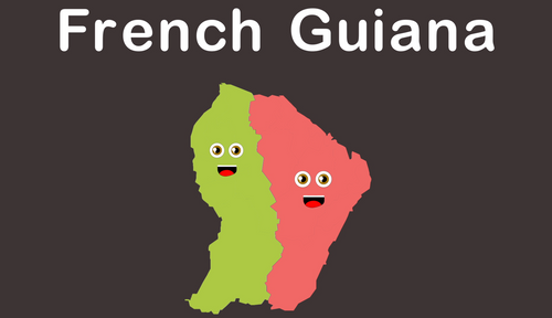 French Guiana Coloring Sheet
