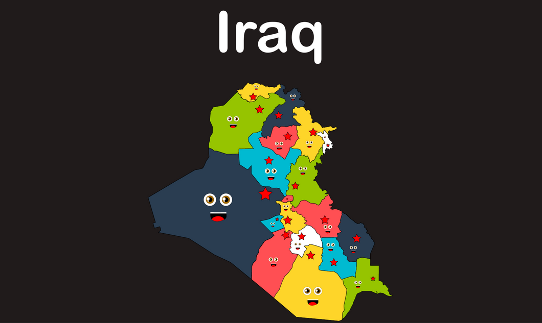 Iraq Coloring Sheet