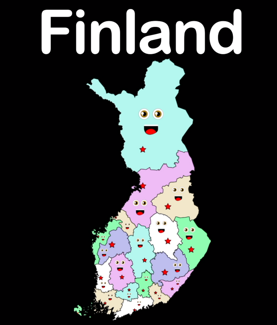 Finland Coloring Sheet