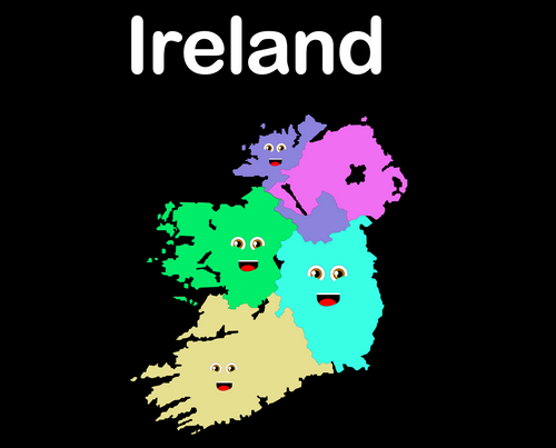 Ireland Coloring Sheet