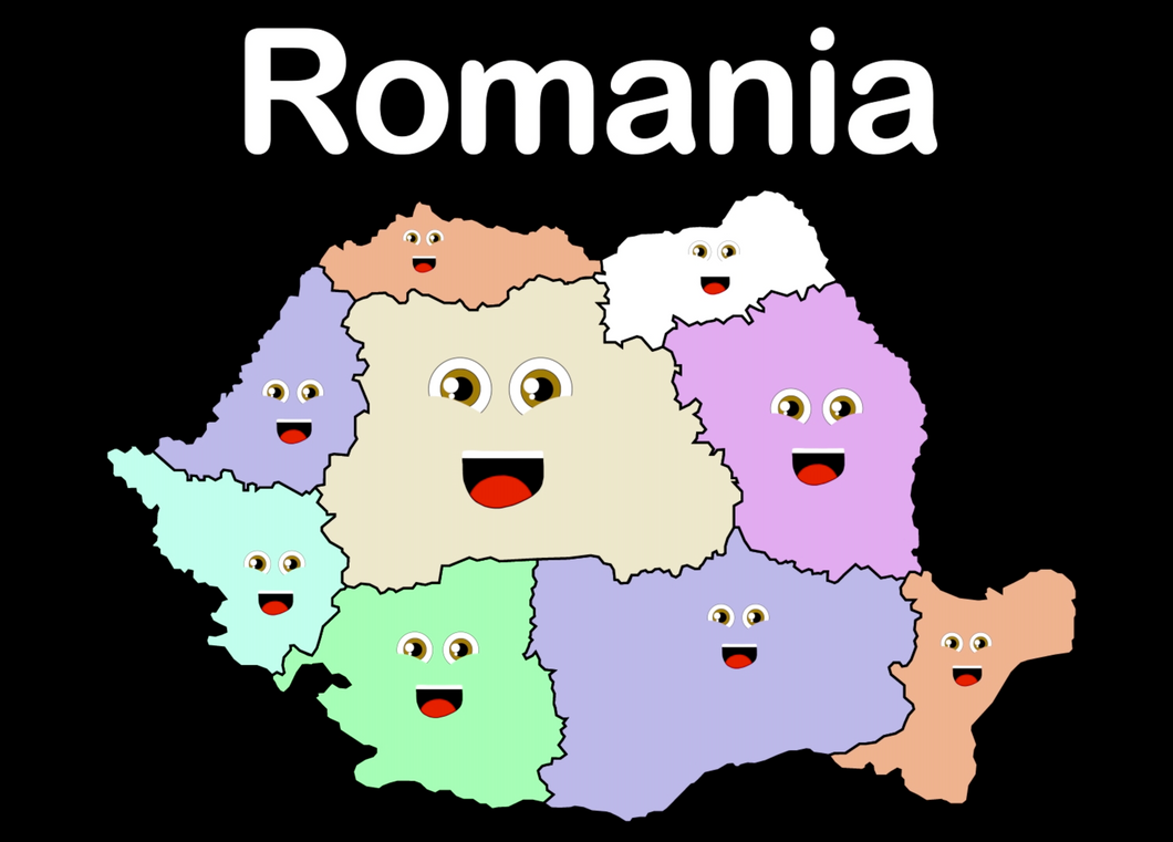 Romania Coloring Sheet
