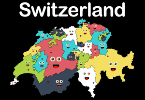 Switzerland Coloring Sheet