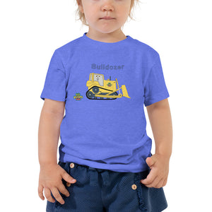 Bulldozer - Bella + Canvas 3001T Toddler Short Sleeve Tee with Tear Away Label