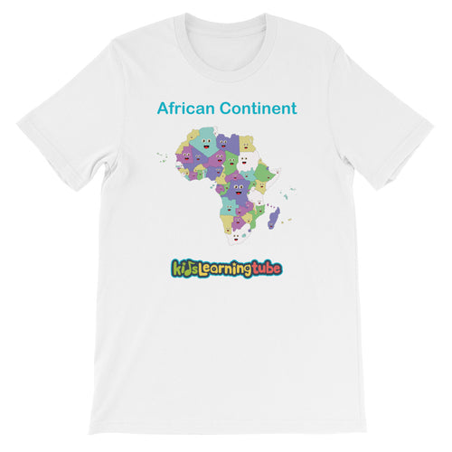 'African Continent' Adult Unisex Short Sleeve T-Shirt