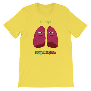 'Lungs' Adult Unisex Short-Sleeve T-Shirt