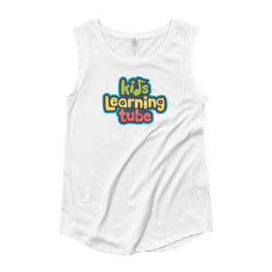 Kids Learning Tube Stacked Logo Women's Cap Sleeve T-Shirt