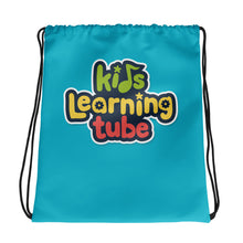 Kids Learning Tube Logo Drawstring Bag (Teal)