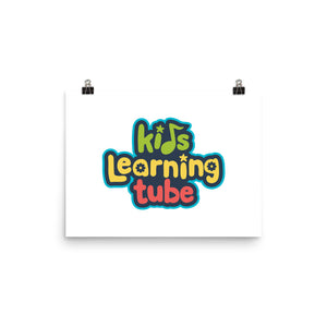 Kids Learning Tube Logo Poster (White)