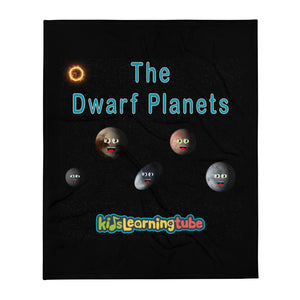 Dwarf Planet Throw Blanket