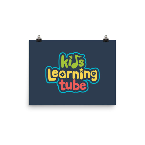 Kids Learning Tube Logo Poster (Navy)