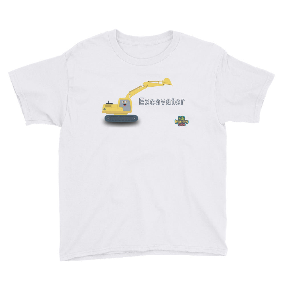 Excavator - Anvil 990B Youth Lightweight Fashion T-Shirt with Tear Away Label
