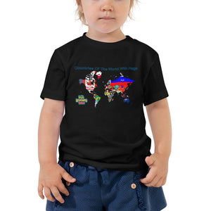 Countries Of The World With Flags - Toddler Short Sleeve Tee