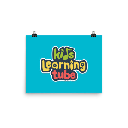 Kids Learning Tube Logo Poster (Teal)