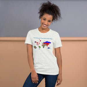 Countries Of The World With Flags -Short-Sleeve Unisex T-Shirt