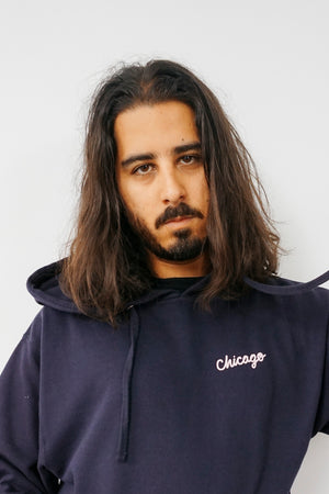 """Chicago"" Navy Hoodie"