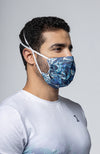 Futuristic Reusable Mask - Ocean Blue
