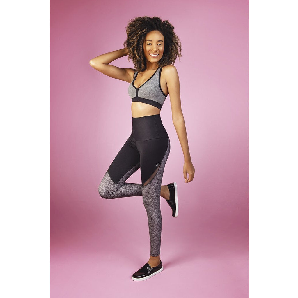 'Hype' color block tights
