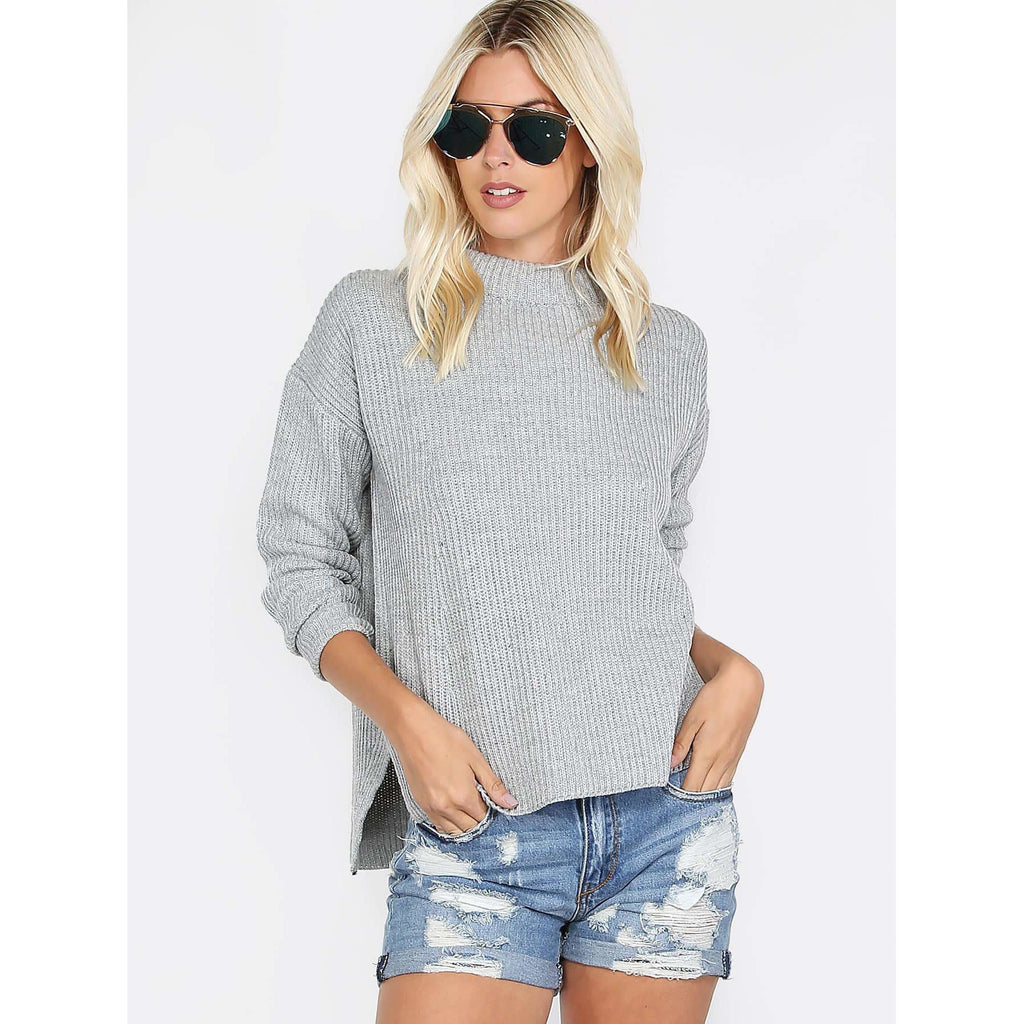 'Drop shoulder' sweater