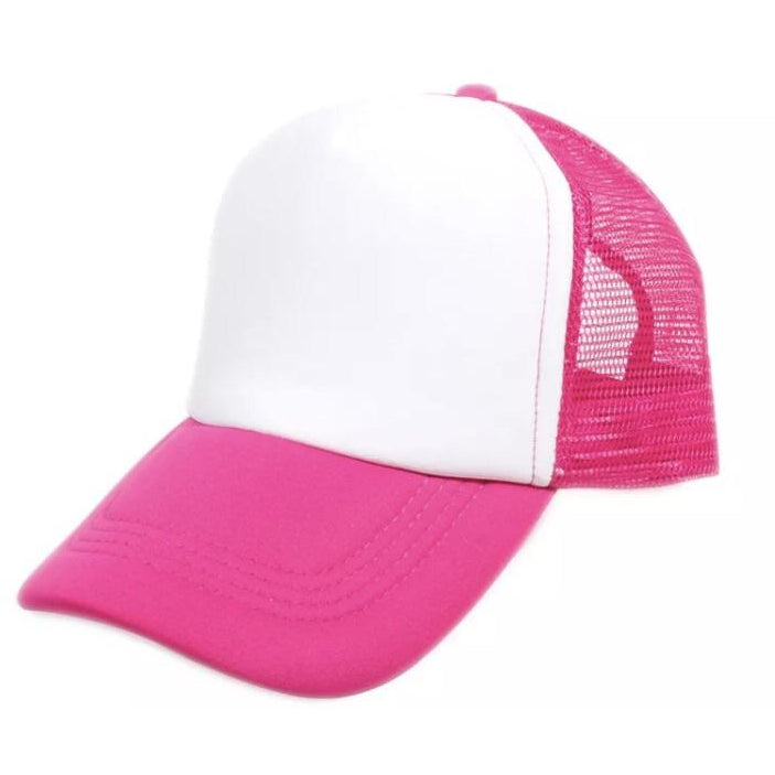 Trucker cap (pink and white)