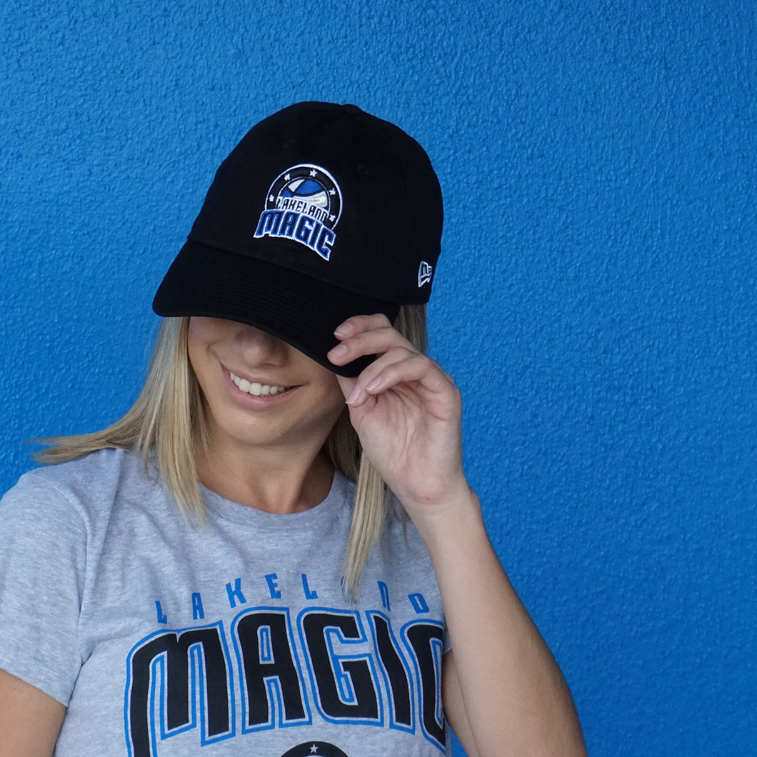 9Twenty Adjustable Hat with Lakeland Magic Logo - Black