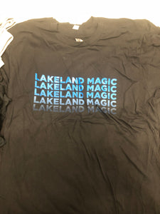 Men's Short Sleeve with Faded Lakeland Magic - Black