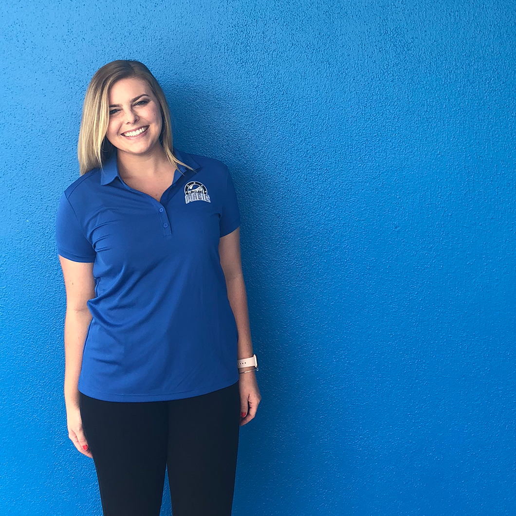 Women's Nike Polo with Lakeland Magic Logo - Blue