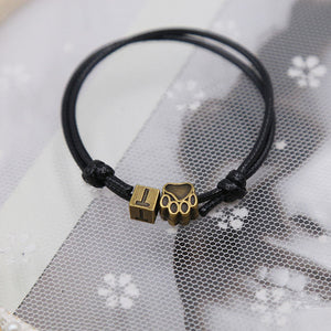 Rope rescue bracelet with initial