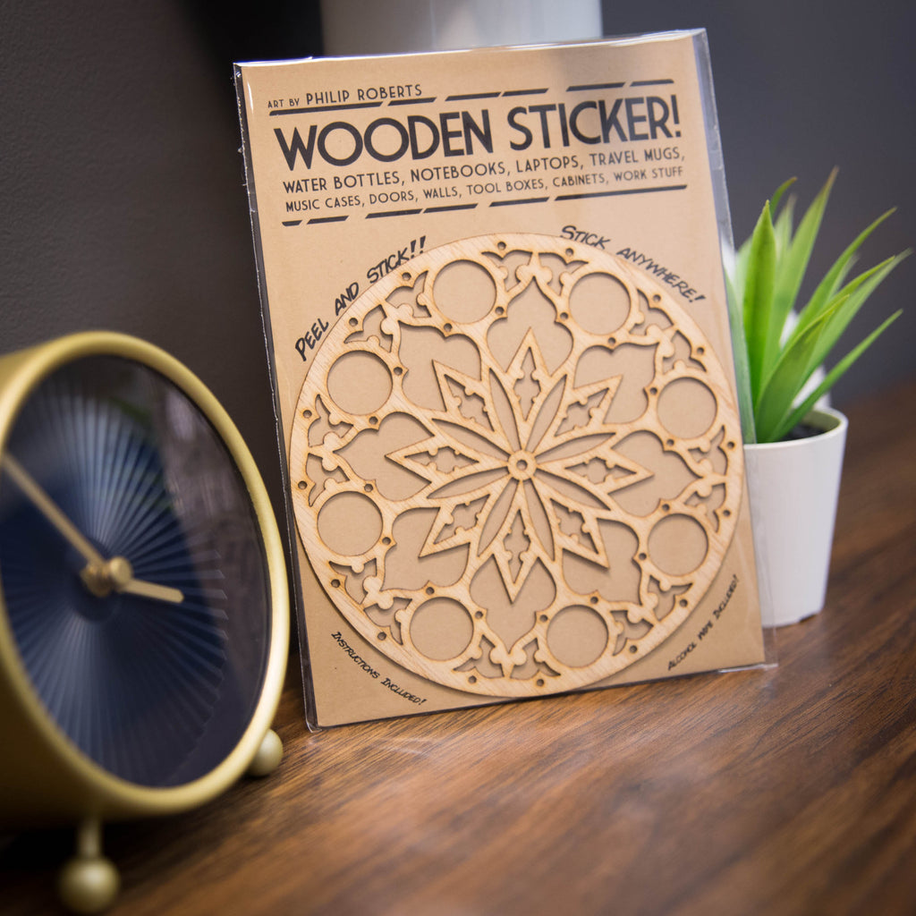 Wooden Stickers 5""