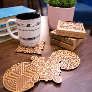 Pack of Wooden Coasters