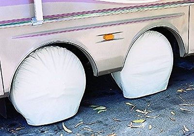 "ADCO Size 3 Polar White Ultra Tyre Gard Wheel Cover Set of 2 Fits 27""-29"""