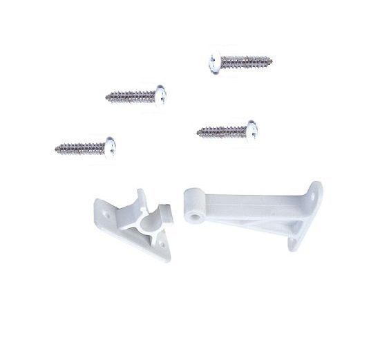 ,RV boat 3 in white plastic C clip door holder catch w screws JR products 10204