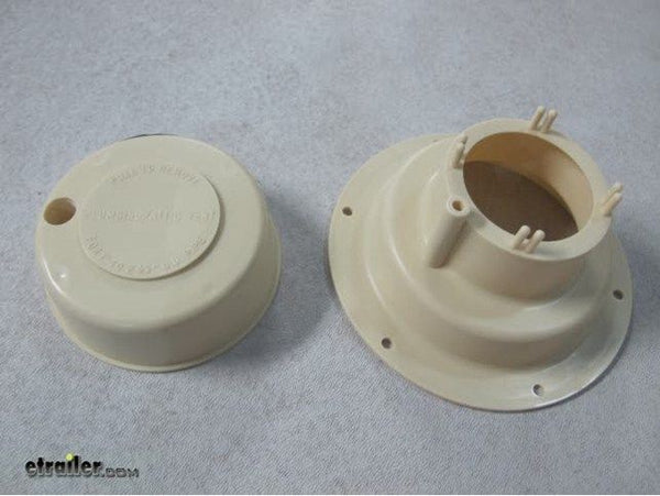 RV Camper Trailer Roof Vent cap, Plumbing Sewer Removable Top -Colonial White -