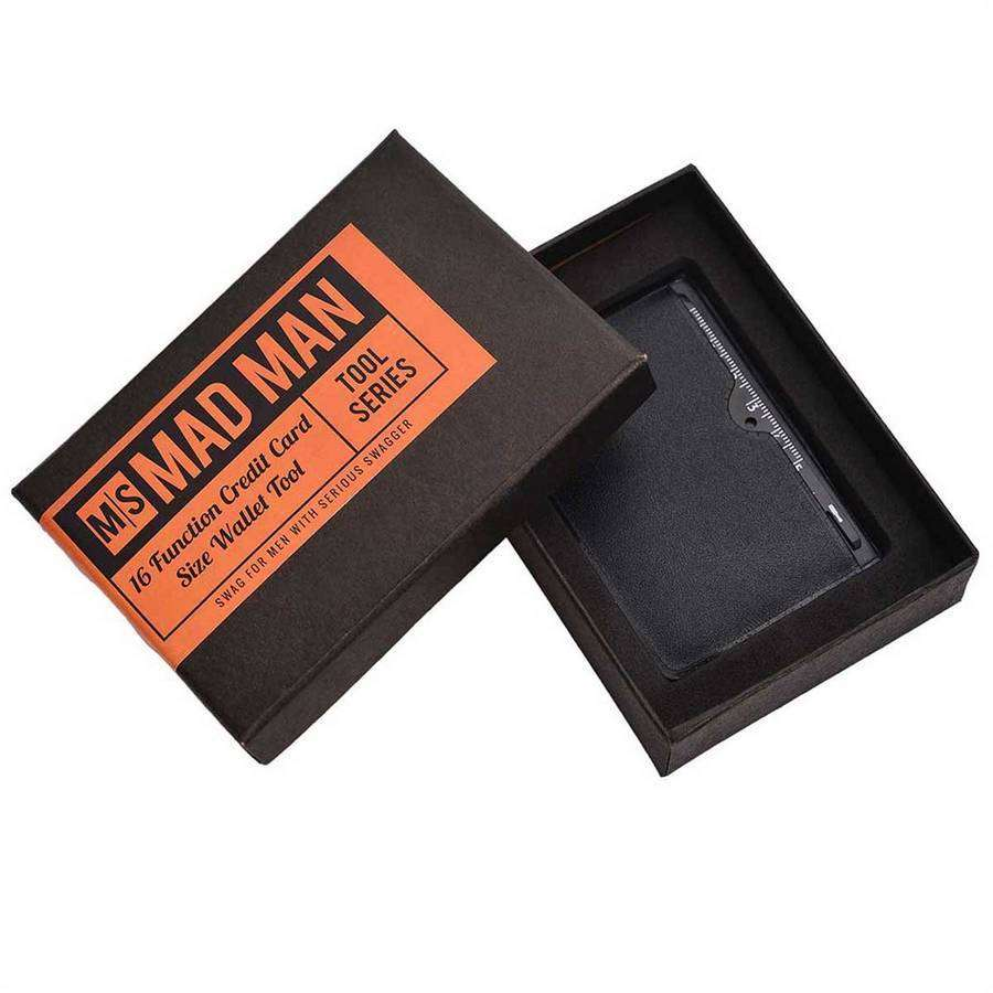 16 Function Credit Card Size Wallet Tool,Cool Tools,Mad Man, by Mad Style