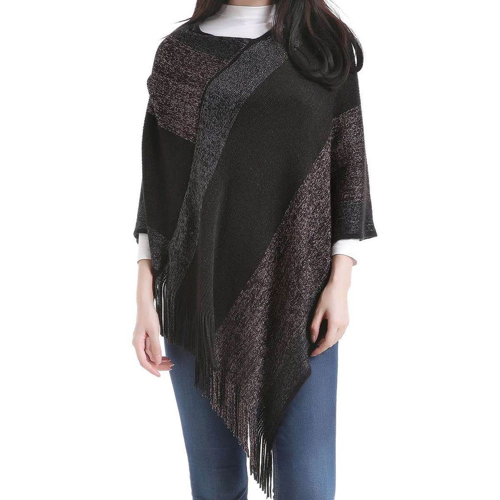 Aubry Swoop Neck Poncho,Outerwear,Mad Style, by Mad Style