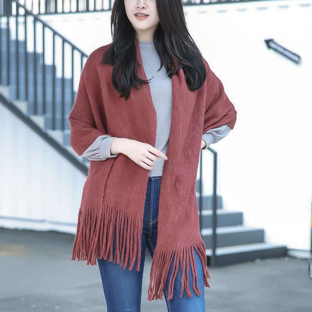 Madison Wool Blend Poncho,Outerwear,Mad Style, by Mad Style