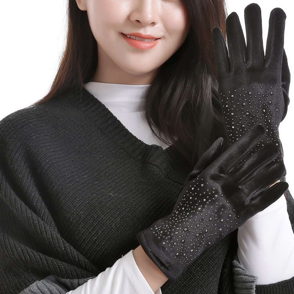 Velveteen Gloves,Winter Accessories,Mad Style, by Mad Style