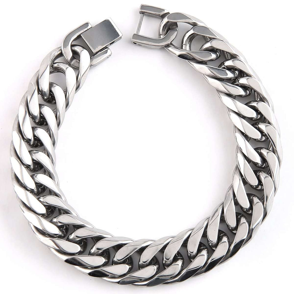 Stainless Link Cuff,Jewelry,Mad Man, by Mad Style