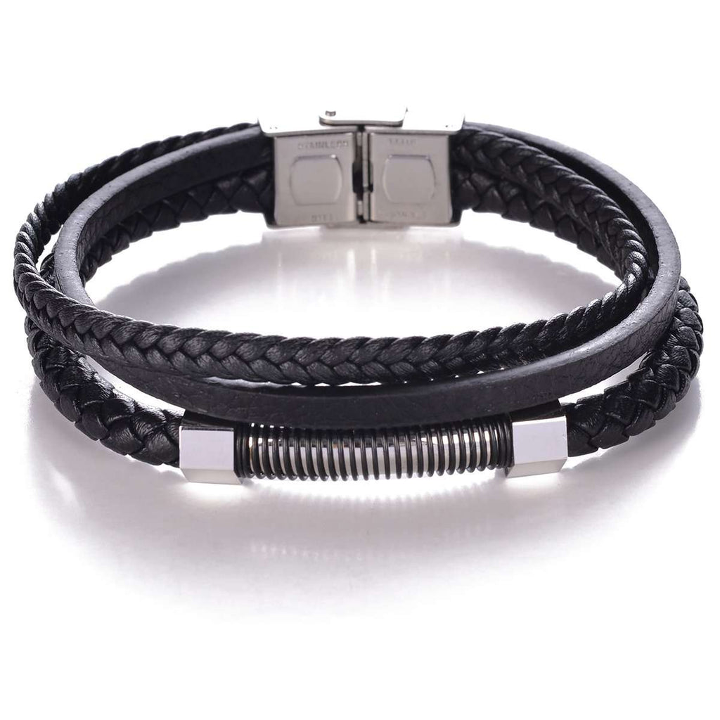 Lock Leather Bracelet,Jewelry,Mad Man, by Mad Style