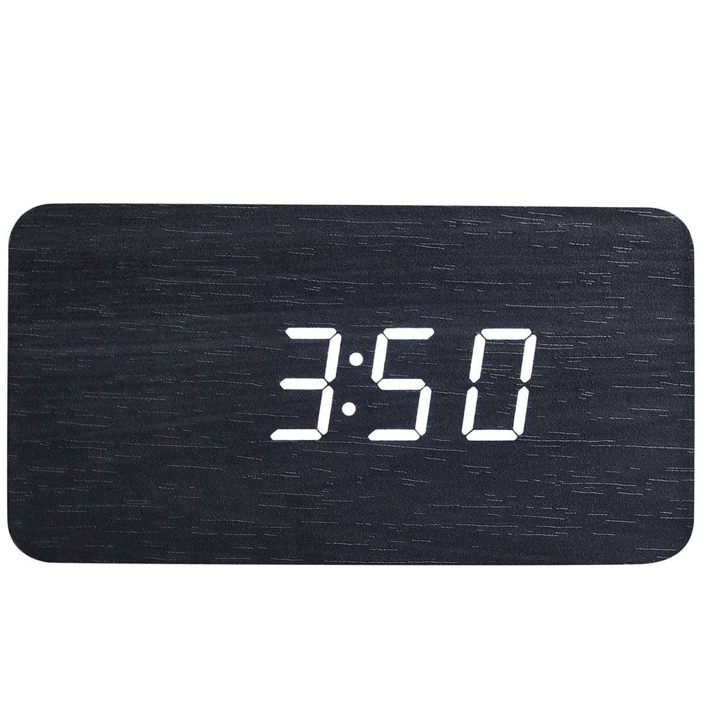 Rectangle Wood Digital Desk Clock