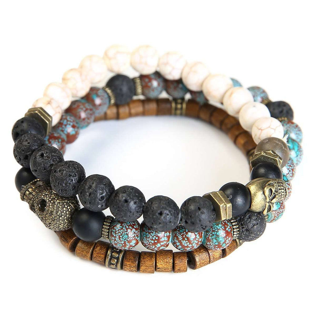 Trible Stone Bracelet,Jewelry,Mad Man, by Mad Style